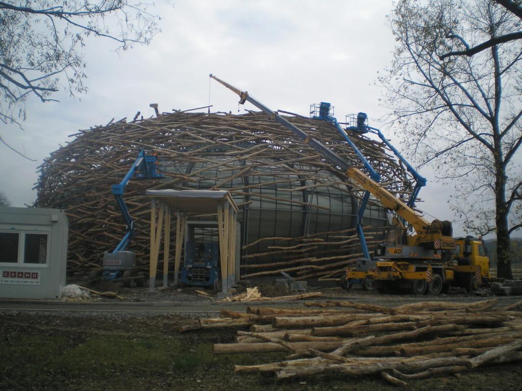 Stavba Čapího hnízda
